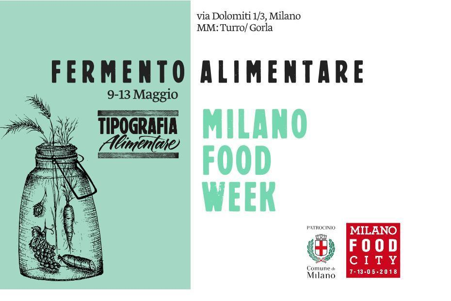 Tipografia Alimentare Milano Food City cartolina